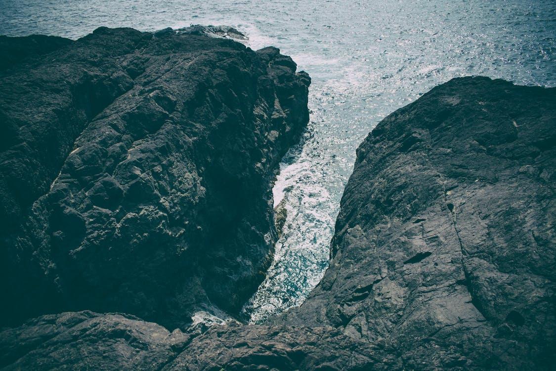 bjerge, bølger, dagslys