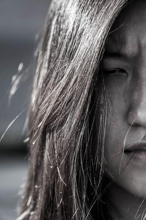 Fotos de stock gratuitas de asiático, blanco y negro, de cerca