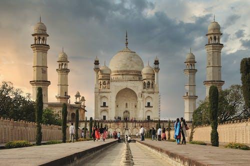 Taj Mahal under Gloomy Sky