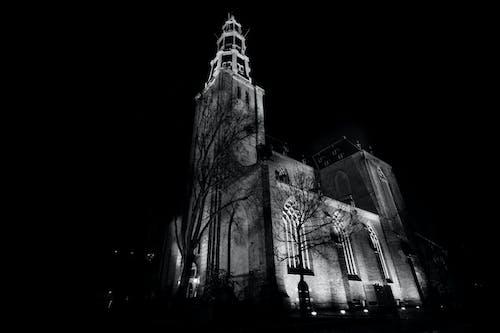 Kostenloses Stock Foto zu kirche, nacht, religion