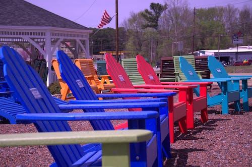 いす, くつろぐ, 木製の椅子, 海辺の無料の写真素材