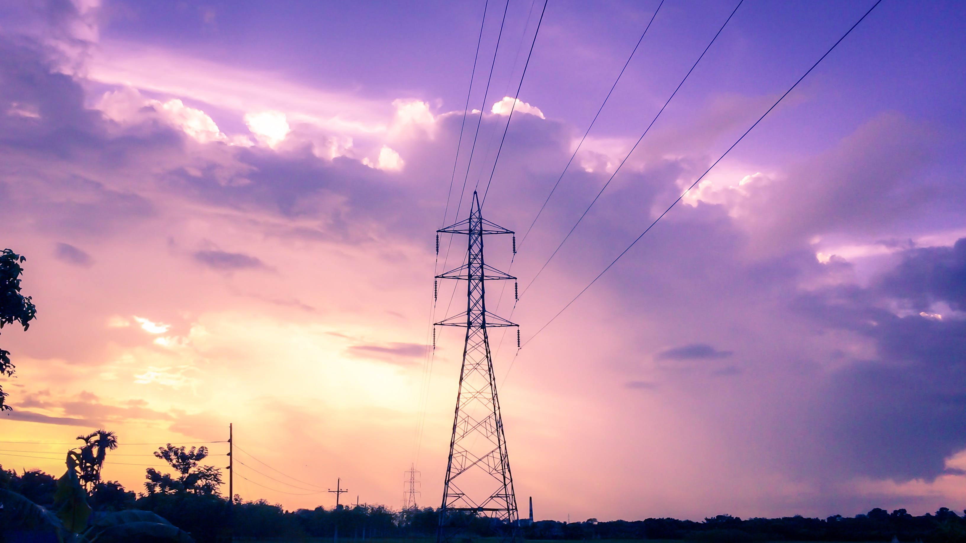 Photography of Electric Tower during Sunset