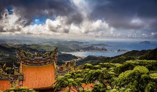 Zdjęcie Lotnicze Brązowej świątyni Na Szczycie Góry