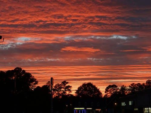 日没, 空, 赤い空, 赤い雲の無料の写真素材