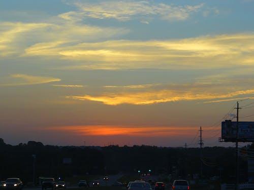 ピンクの雲, 日没, 空, 街の夕日の無料の写真素材