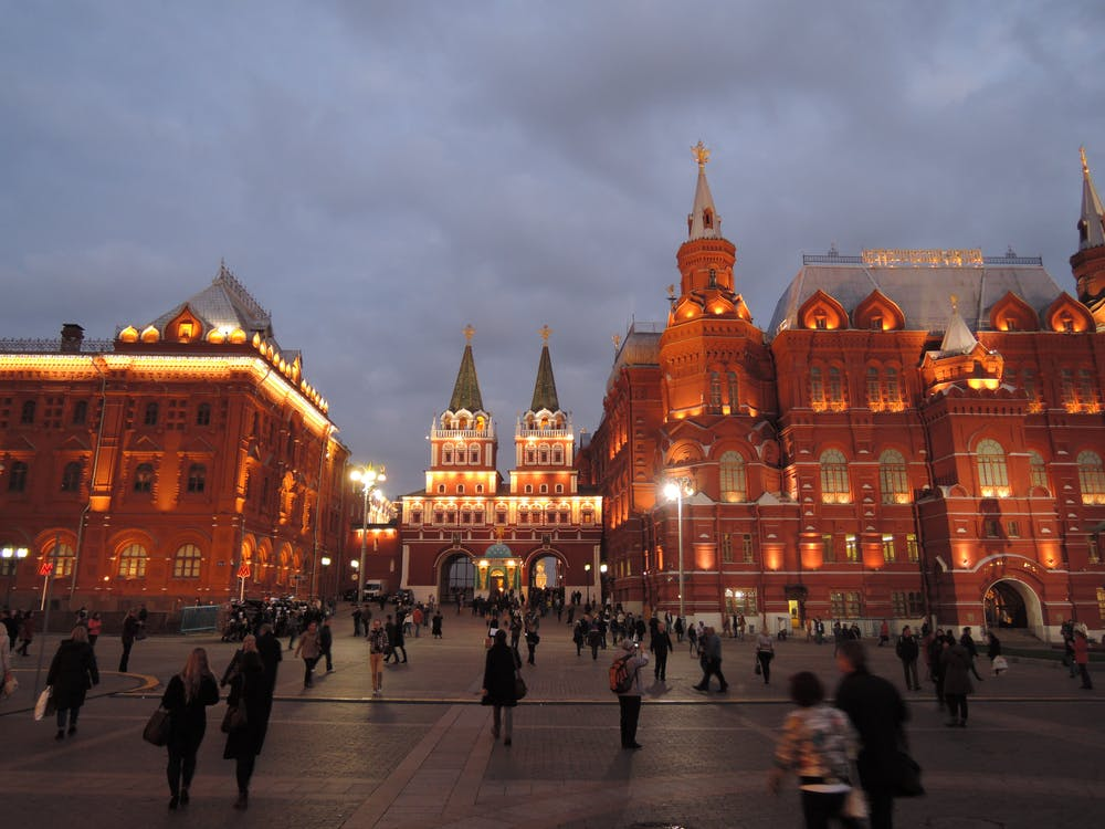 ihmiset, Moskova, punainen neliö