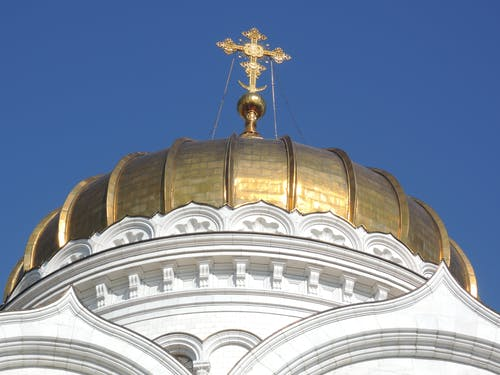 Free stock photo of cathedral orthodox, christian temple, cross