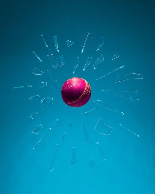 Shattered Glass Around Ball