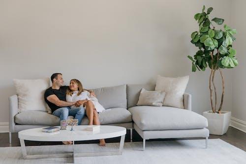 Бесплатное стоковое фото с близость, в помещении, диван
