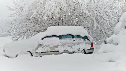 Free stock photo of car, snow, snow hell, snow on car