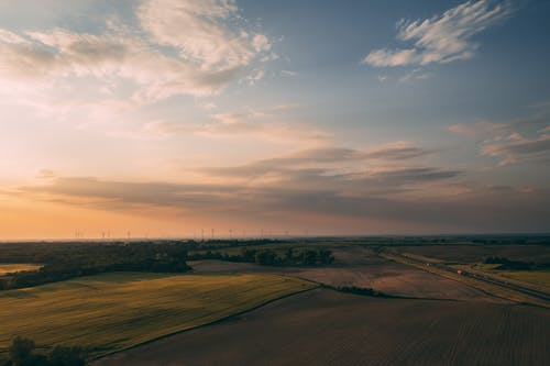 Gratis stockfoto met akkerland, avond, blikveld