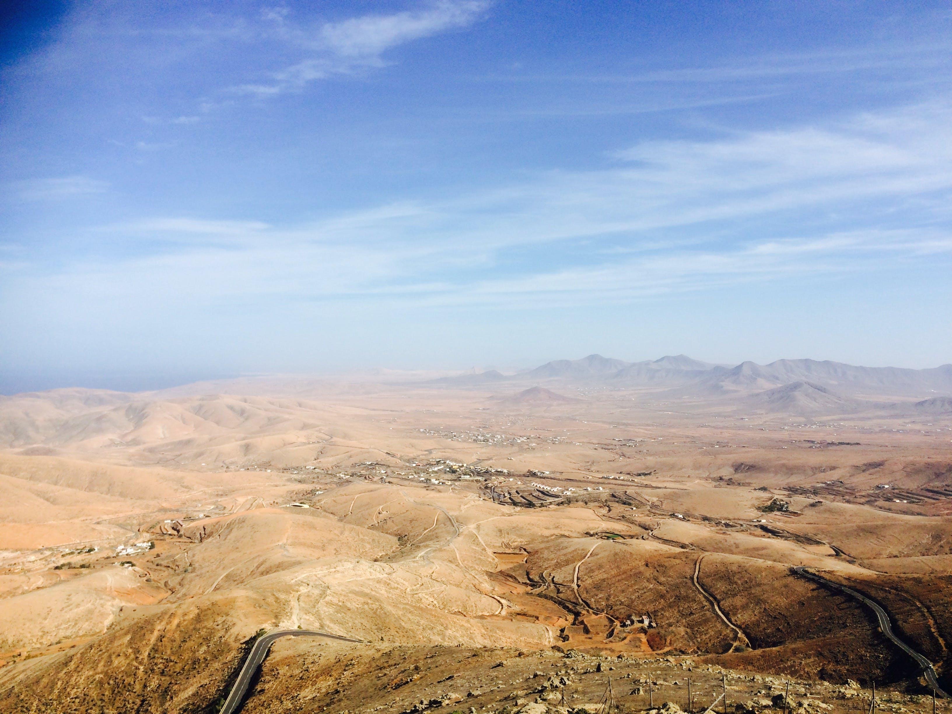 bjerg, fra oven, fugleperspektiv