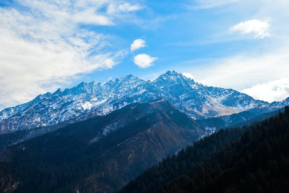 іній, Блакитні гори, вершина гори