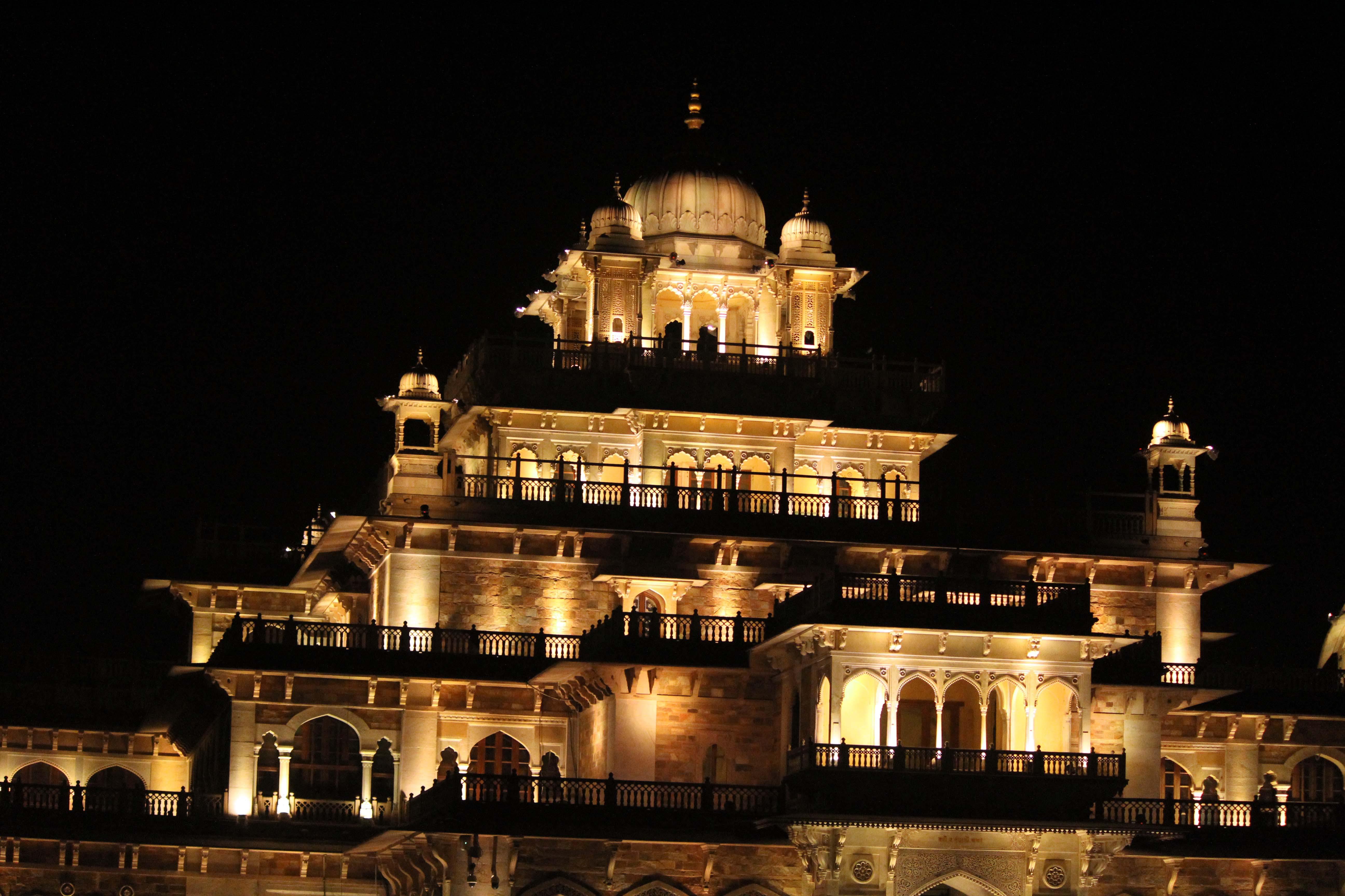 Free stock photo of albert hall, castle, Jaipur, light art