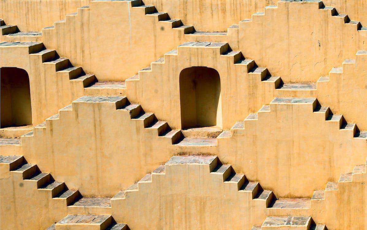 Brown Concrete Door