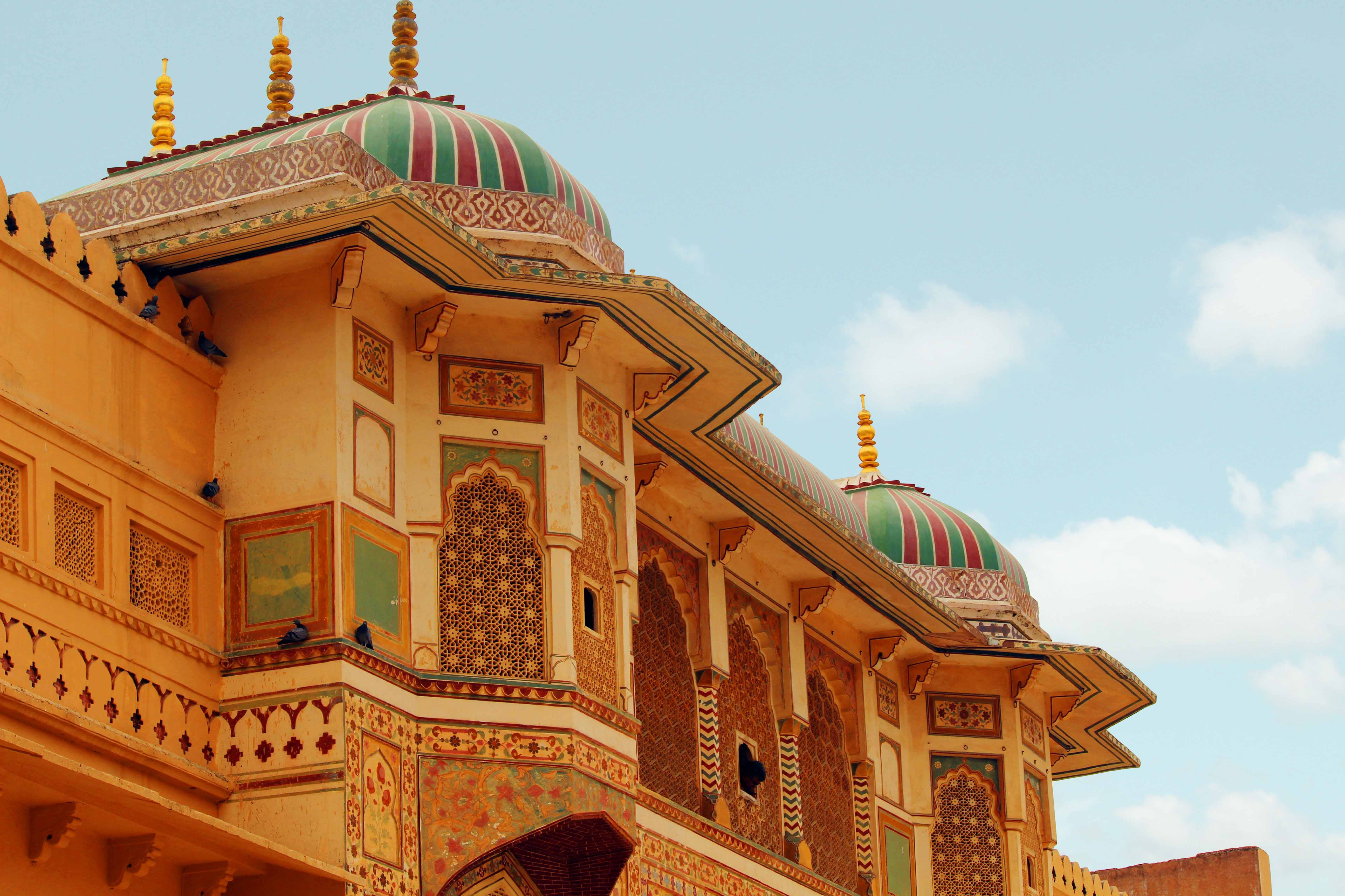 Brown and Multicolored Concrete Building
