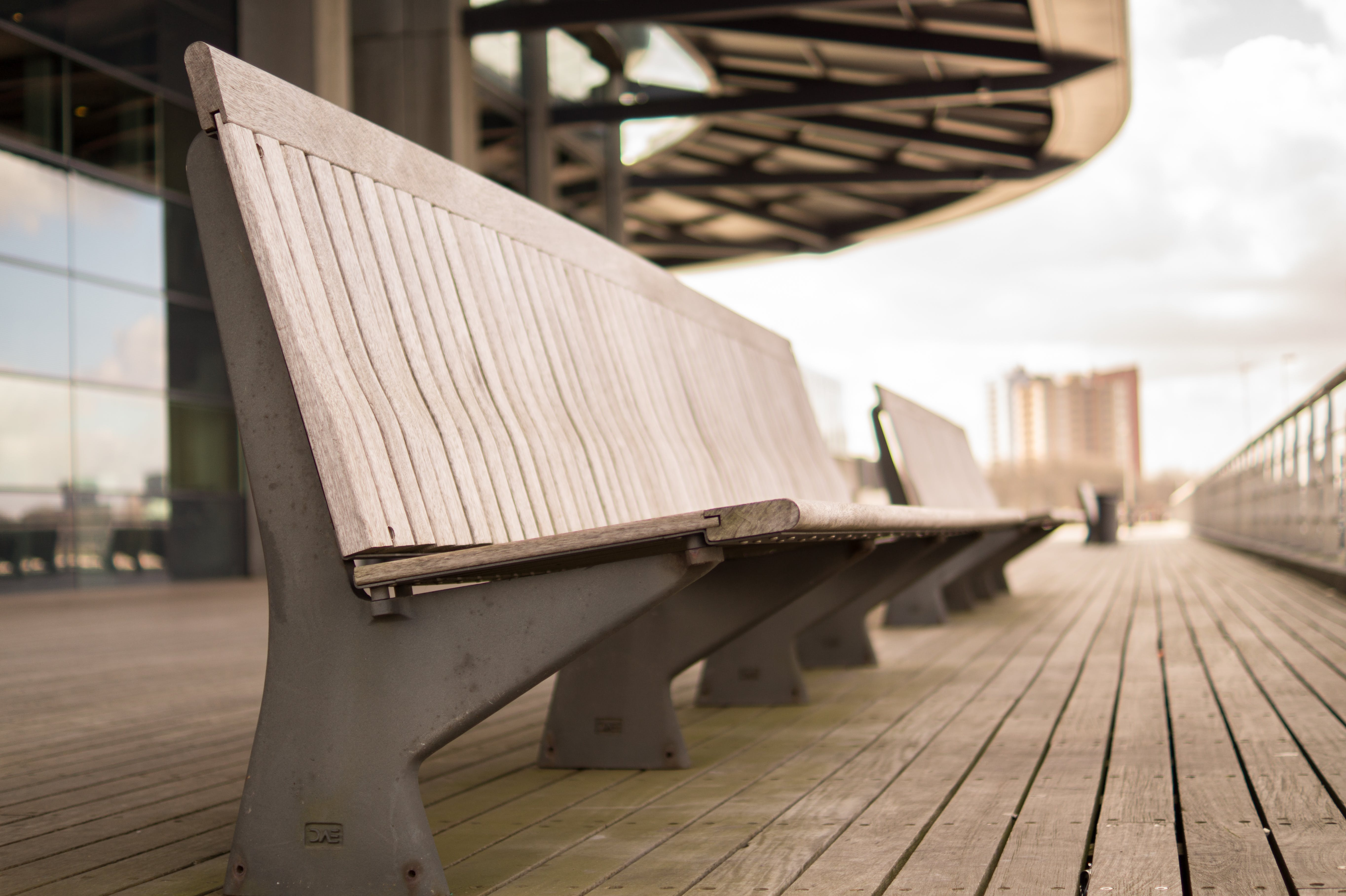 Close-up Photography of Beige Wooden Bench