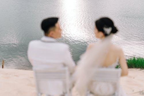 Foto profissional grátis de foco raso, fotografia de casamento, noiva