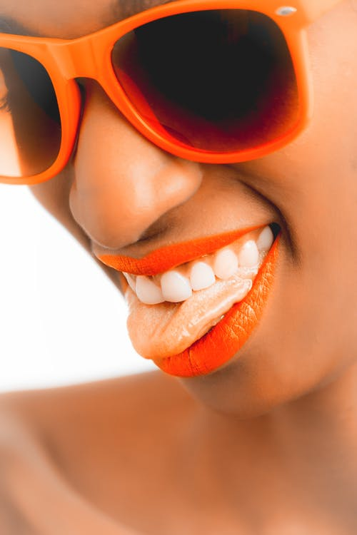 Women's Orange Sunglasses