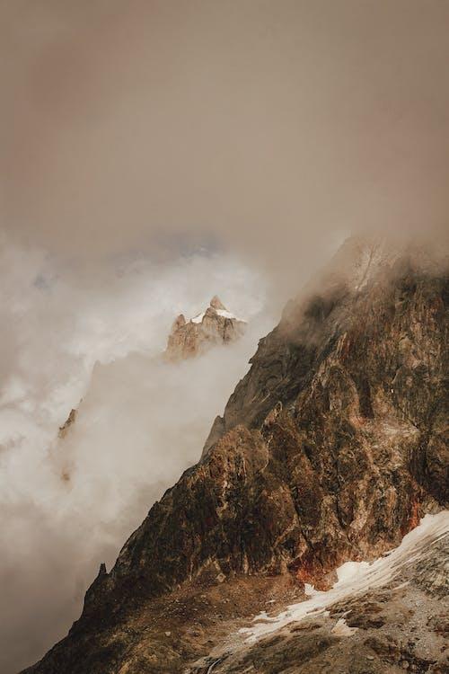 คลังภาพถ่ายฟรี ของ พร่ามัว, ฟ้าหลัว, ภูเขา