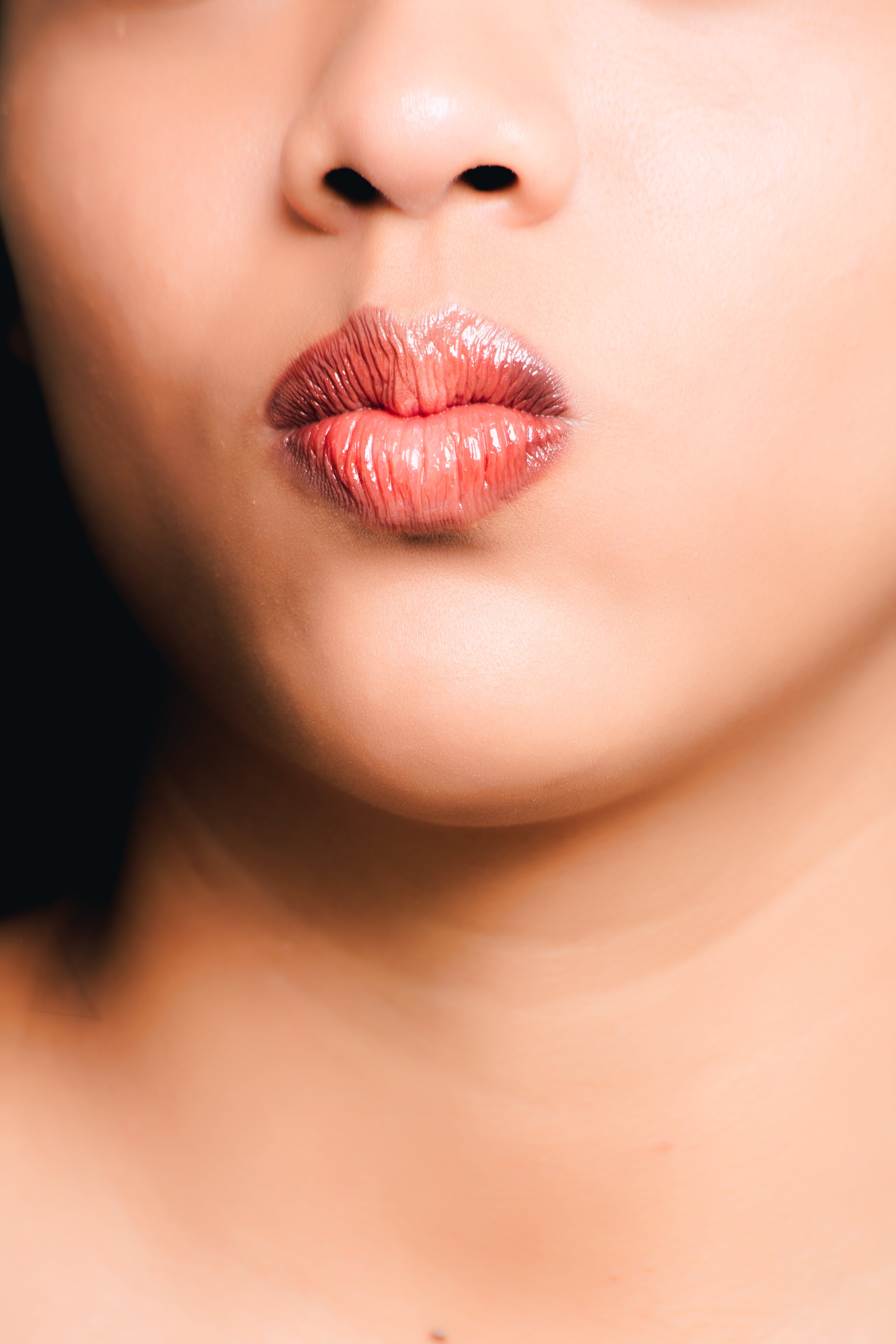 Woman's Red Lips