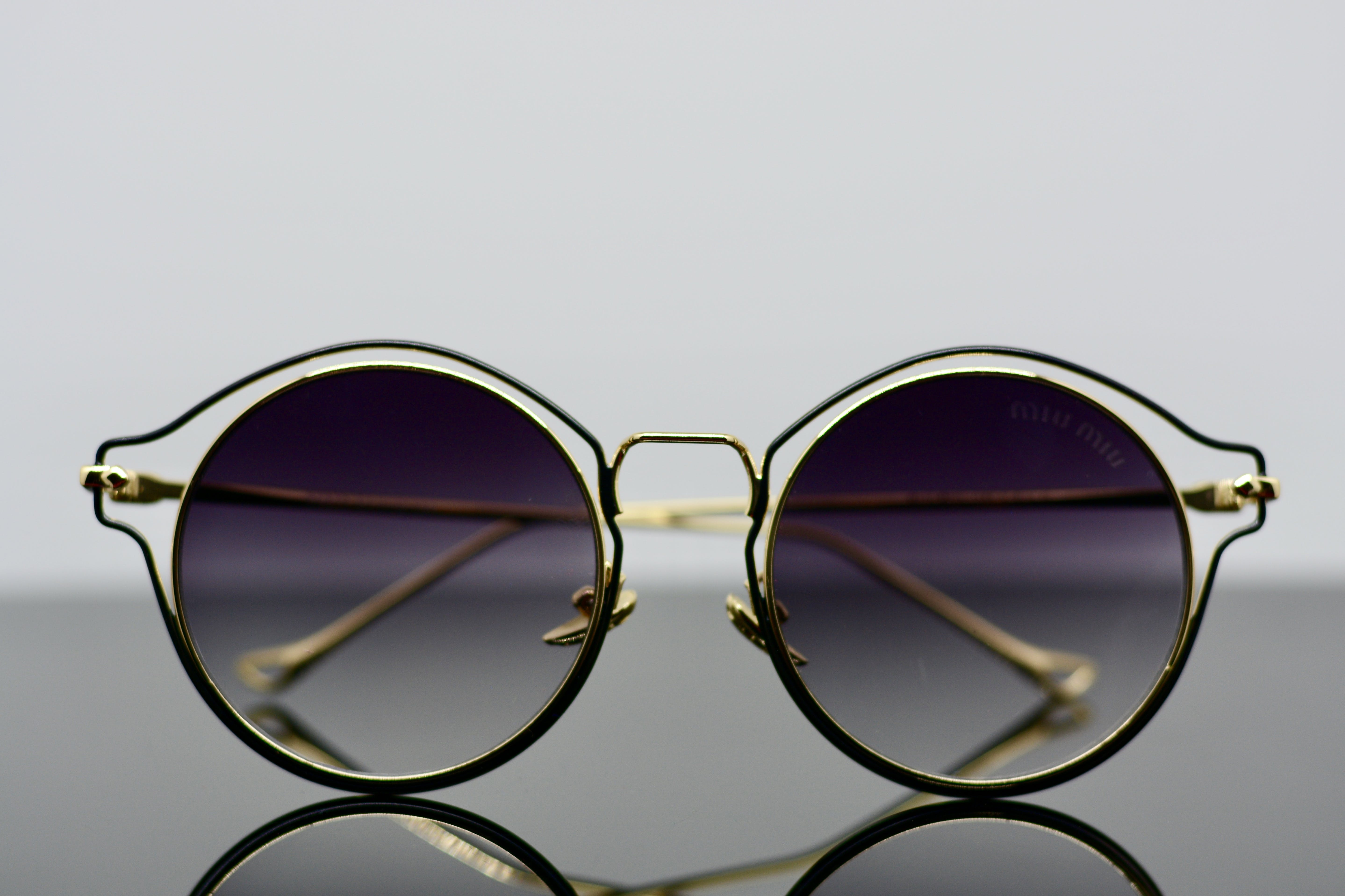 Free stock photo of glass, product shot, sunglass, table top