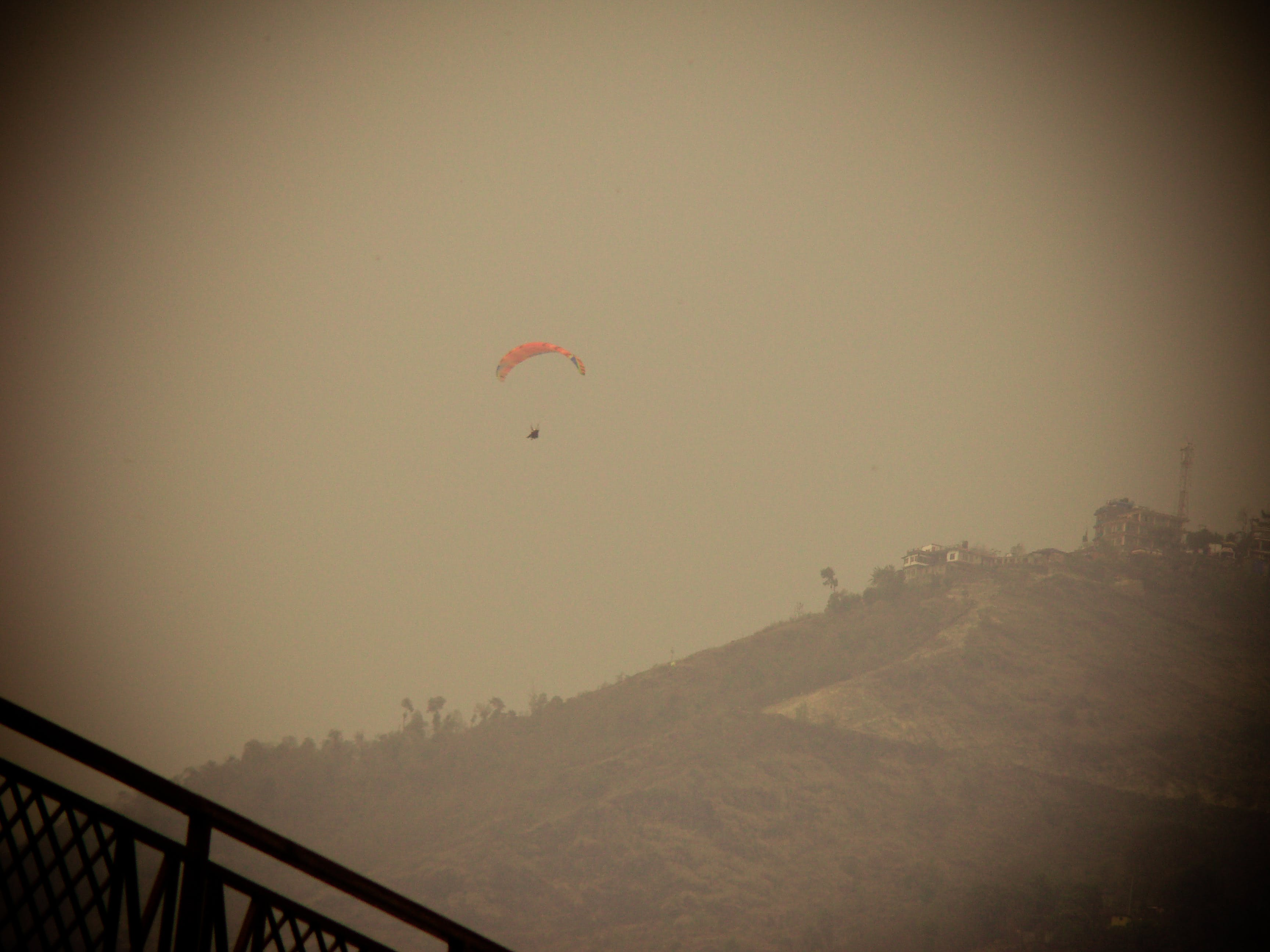 Free stock photo of paragliding