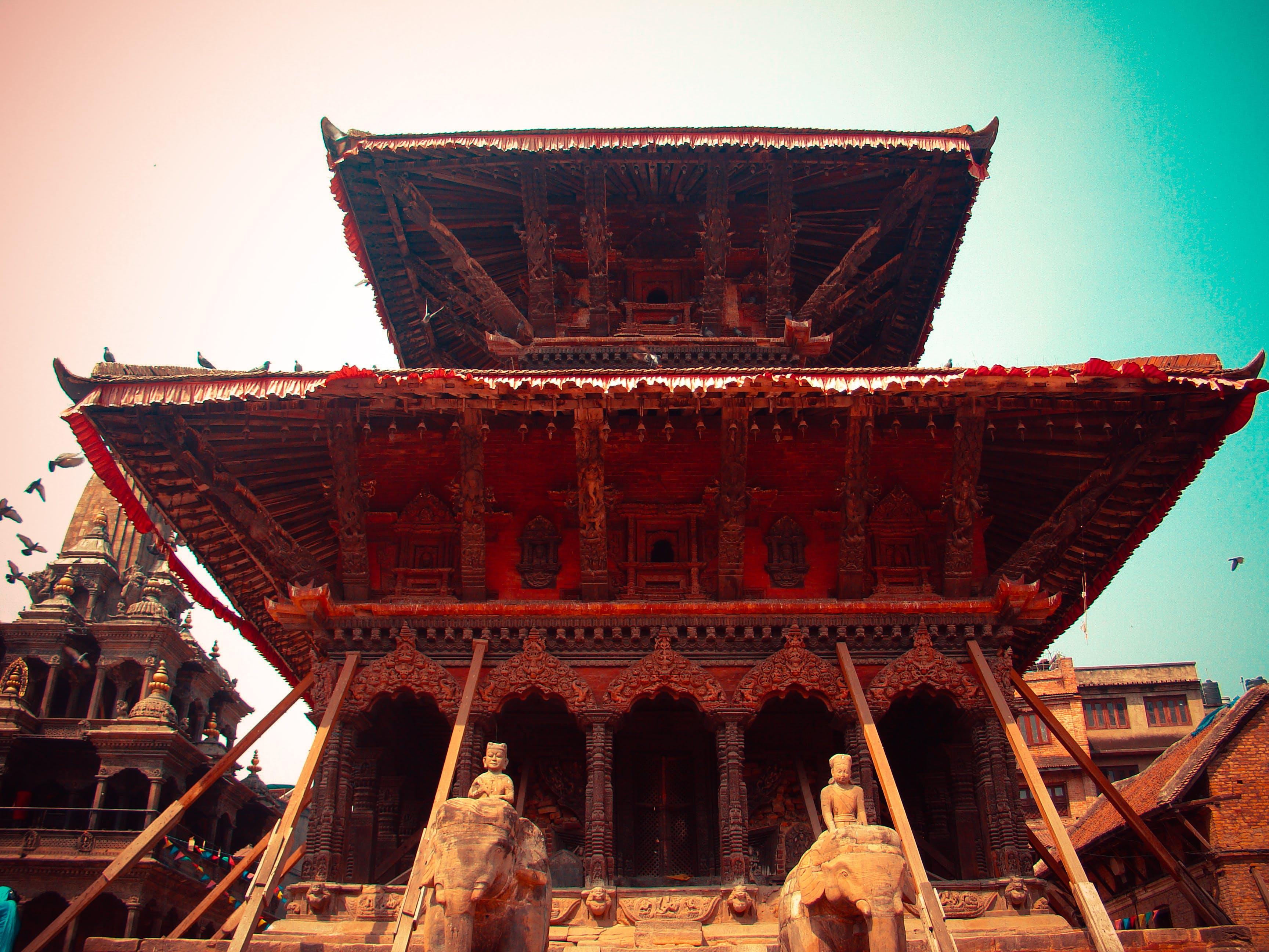 Ảnh lưu trữ miễn phí về nepal, ngôi đền
