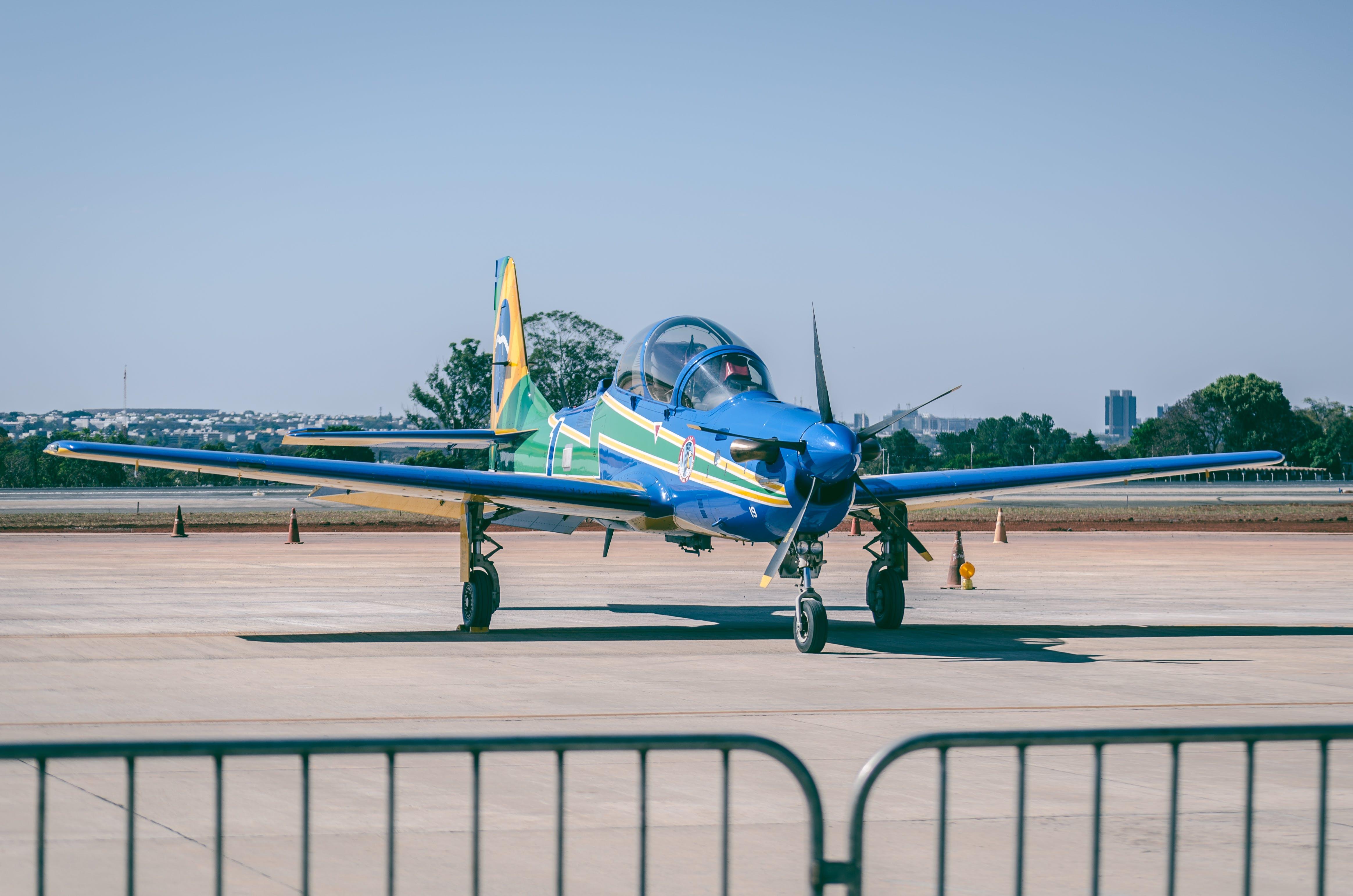 Blue Propeller Plane