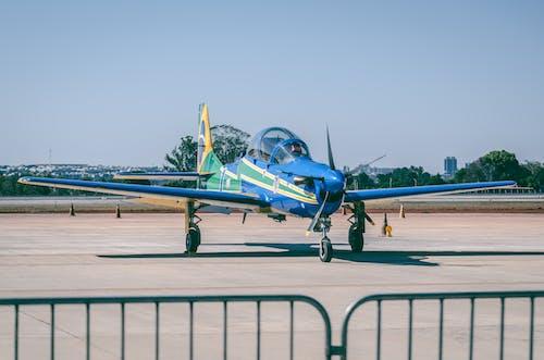 Immagine gratuita di aeroplano, alberi, ali di velivolo, aviazione