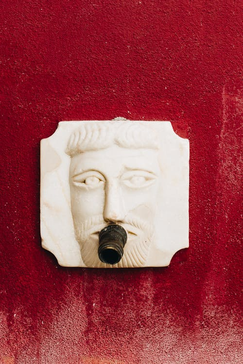 Çeşme, dizayn, duvar, heykel içeren Ücretsiz stok fotoğraf
