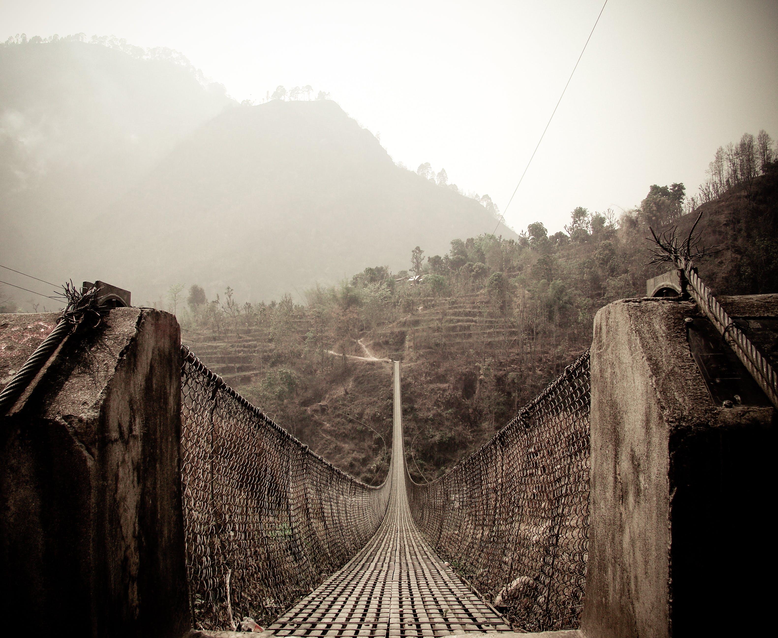 Free stock photo of nature, bridge, footbridge, nepal