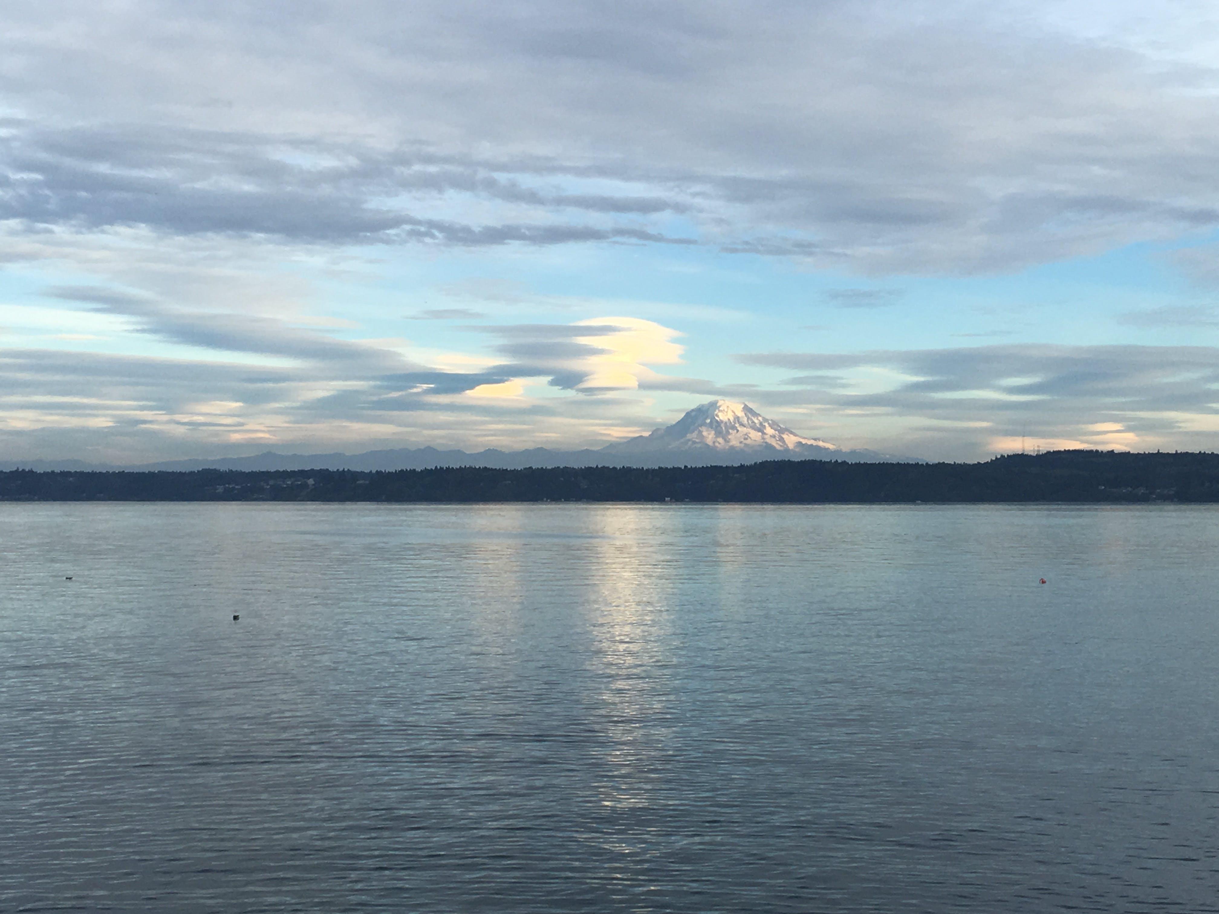 Free stock photo of clouds, horizon, landscape, Mount Rainer