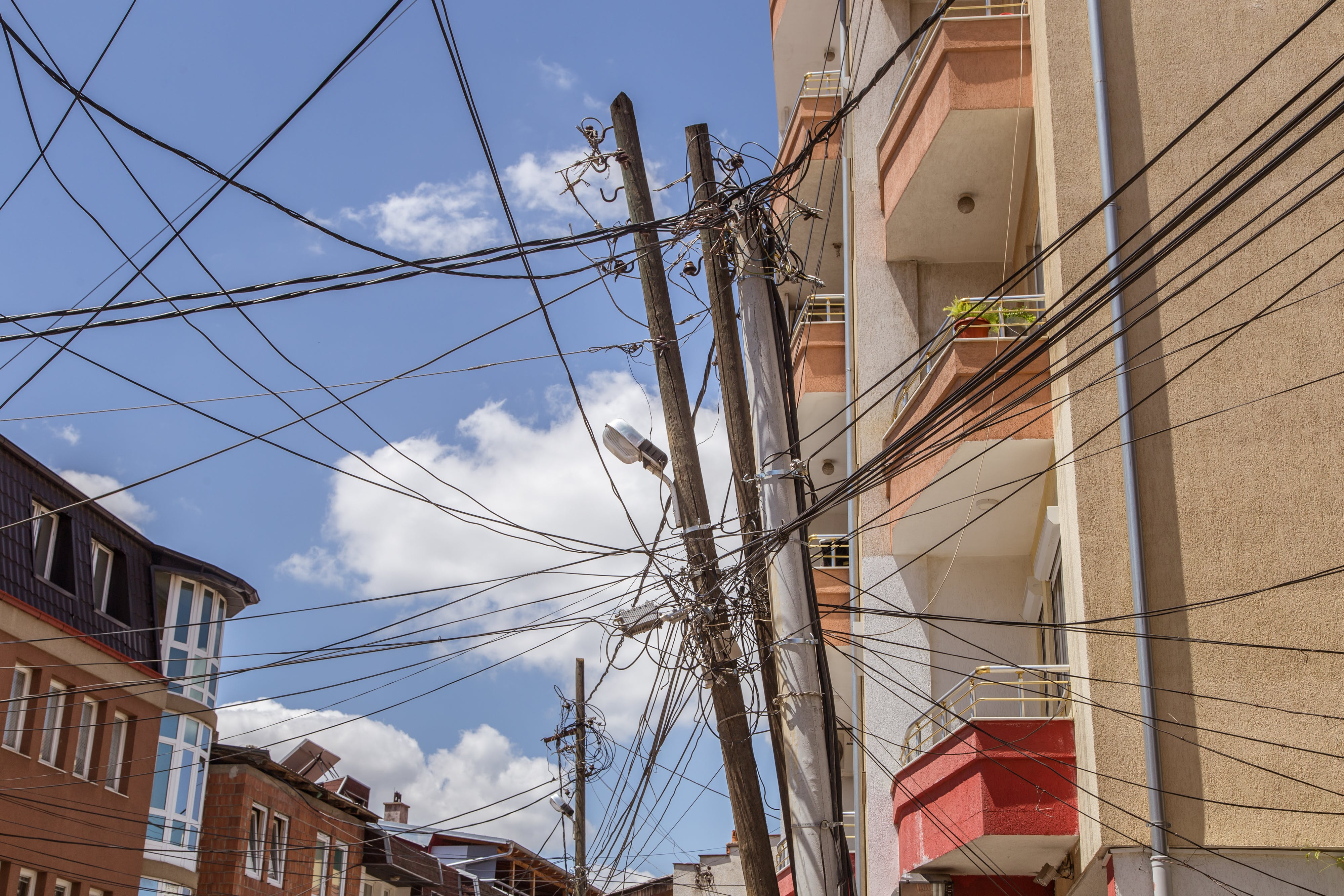 Free stock photo of building, architecture, wire, kosovo