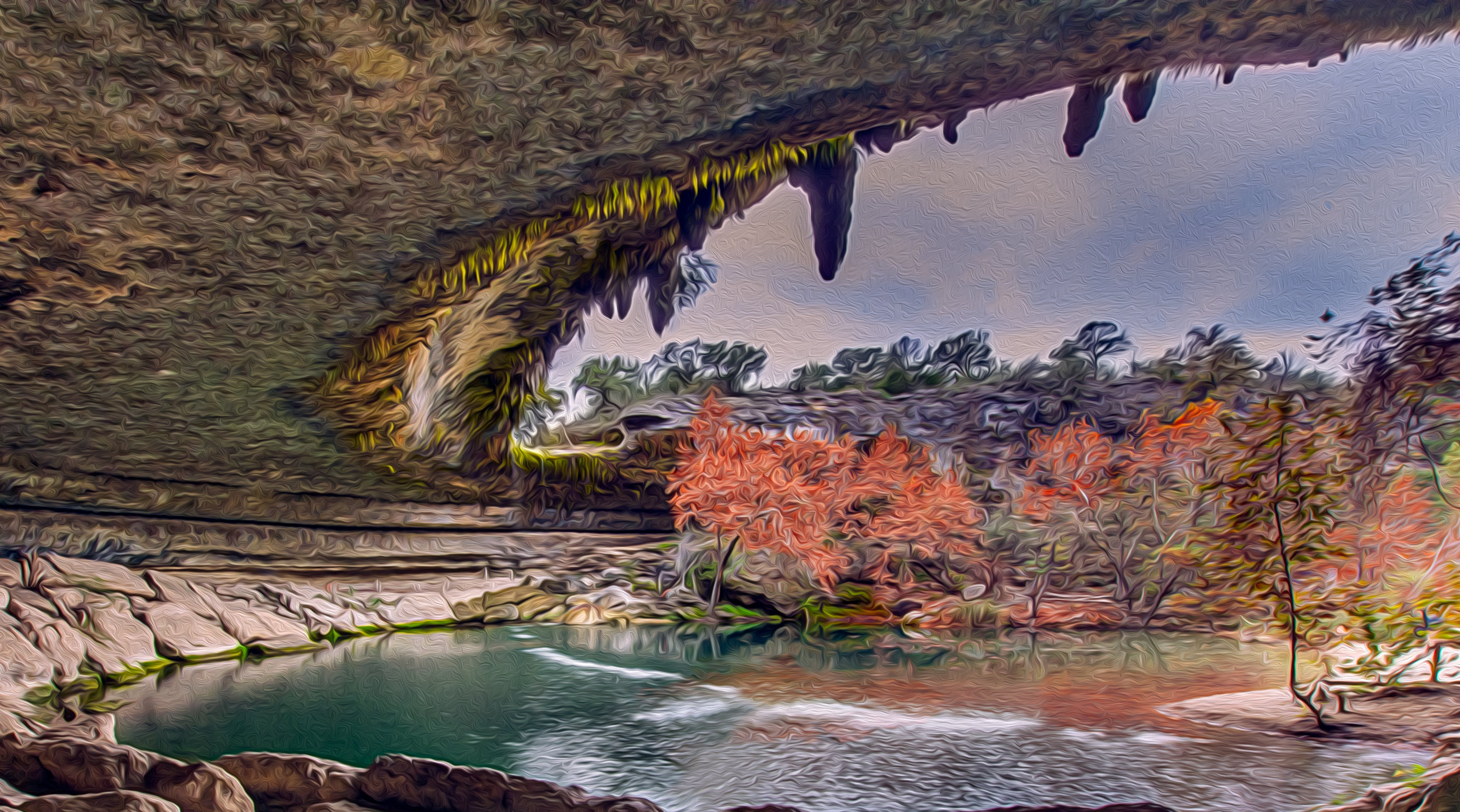 Free stock photo of body of water, calm waters, cave, fall