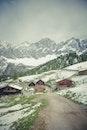 snow, road, landscape