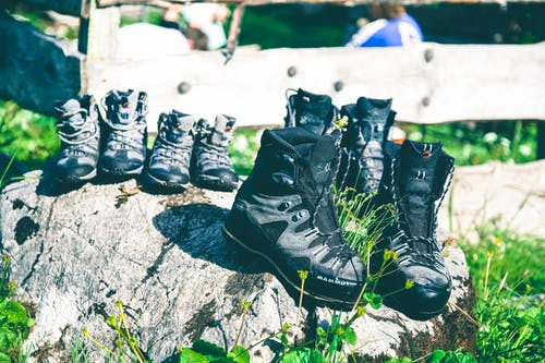 Free stock photo of boots, footwear, rocks, shoes
