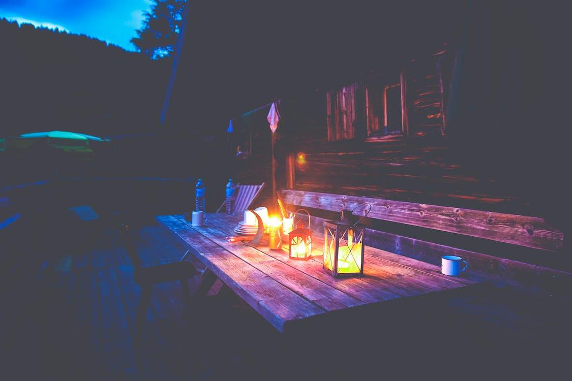 cottage, donker, duister
