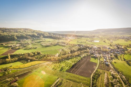 Free stock photo of bird's eye view, countryside, landscape, rural area