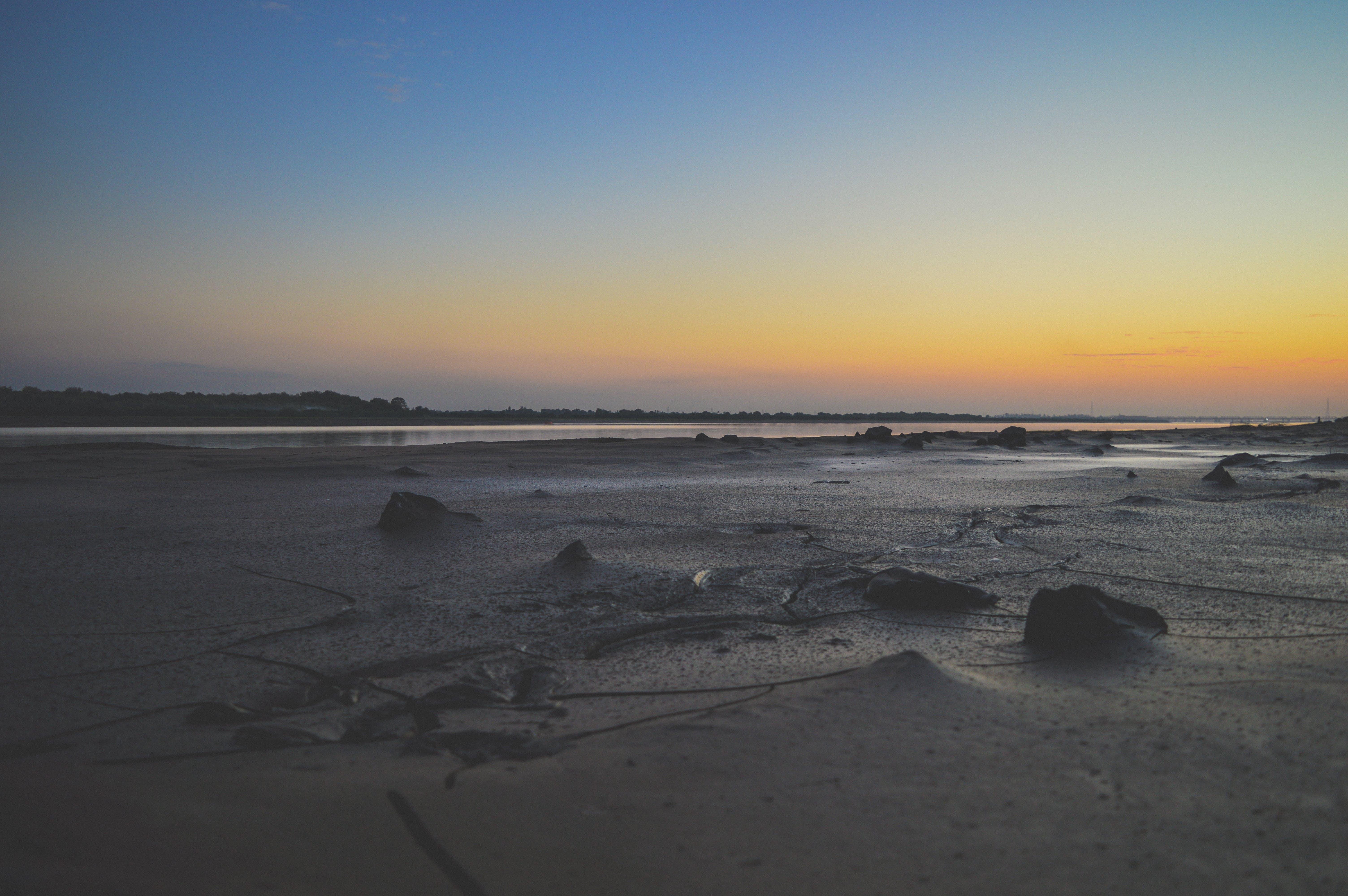 Δωρεάν στοκ φωτογραφιών με ακτή, άμμος, απόγευμα, βραδινός ουρανός