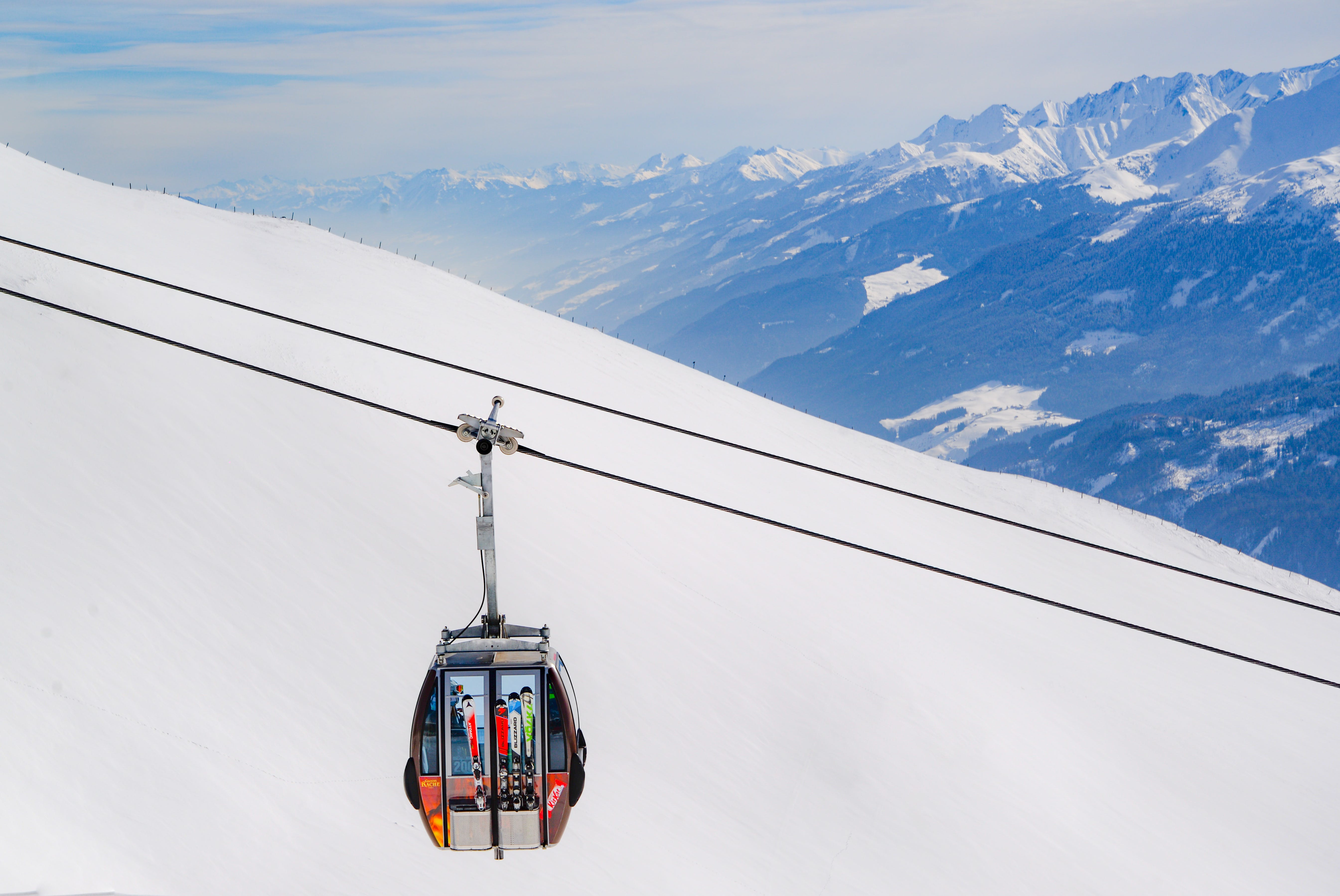 cable car, clouds, cold