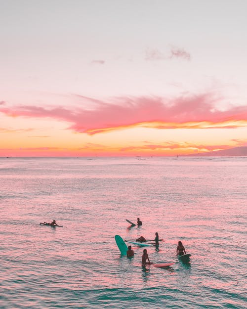 Photos gratuites de aube, bord de mer, canoë