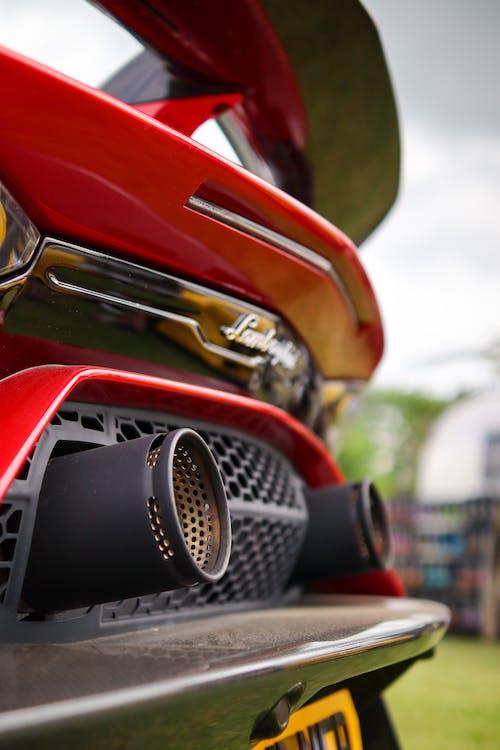 Red and Silver Car in Tilt Shift Lens