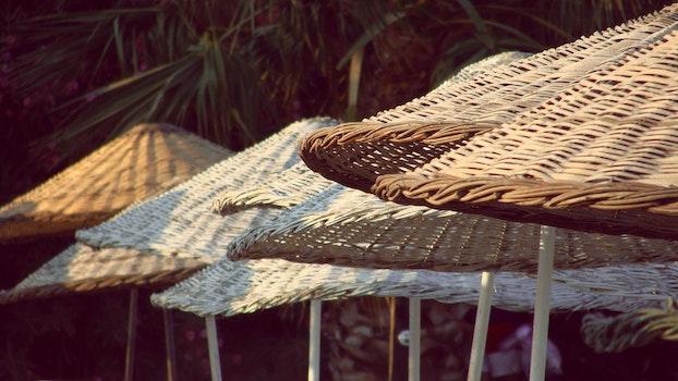 Brown Woven Umbrella