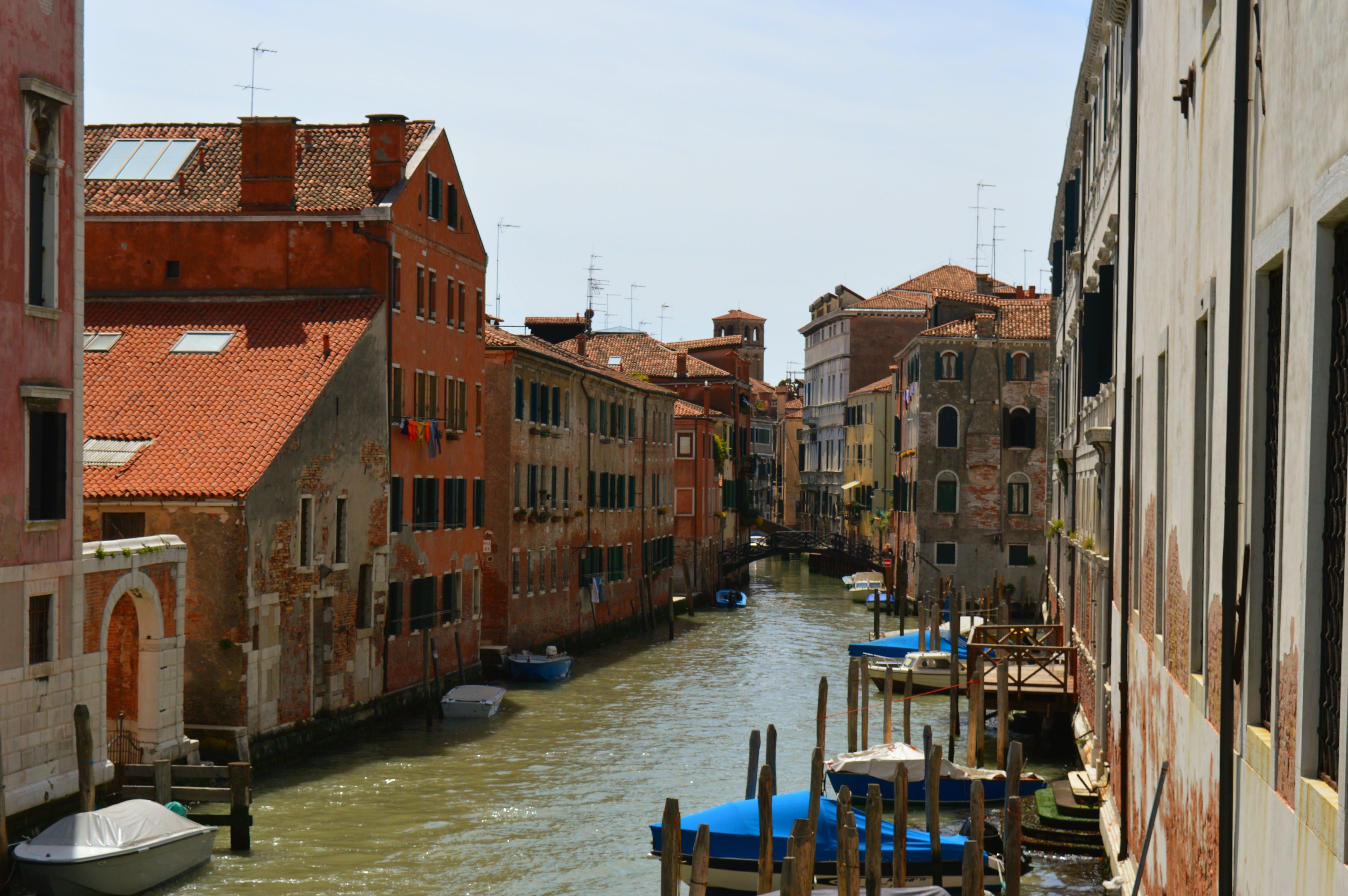 Free stock photo of city, boats, italy, canal