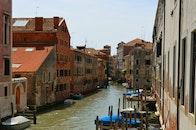 city, boats, italy
