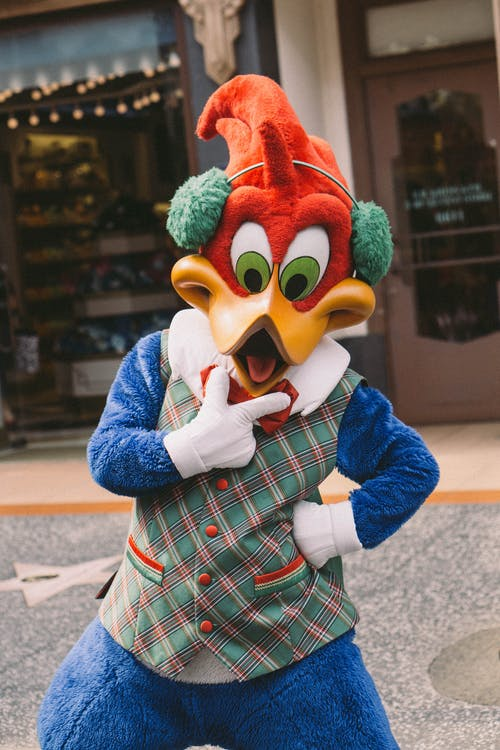 Photo of Woody Woodpecker Mascot