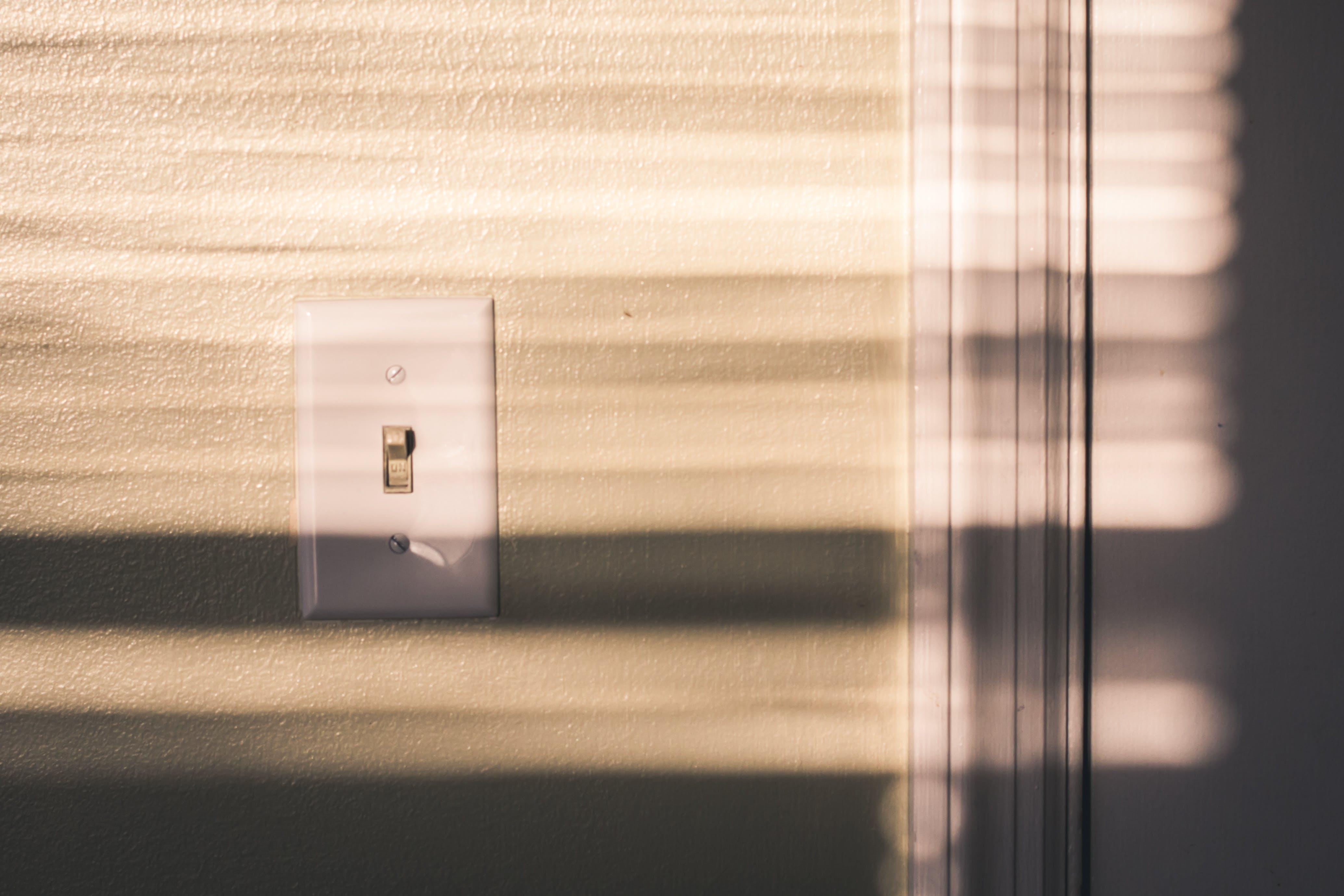 cień, mur, przełączać
