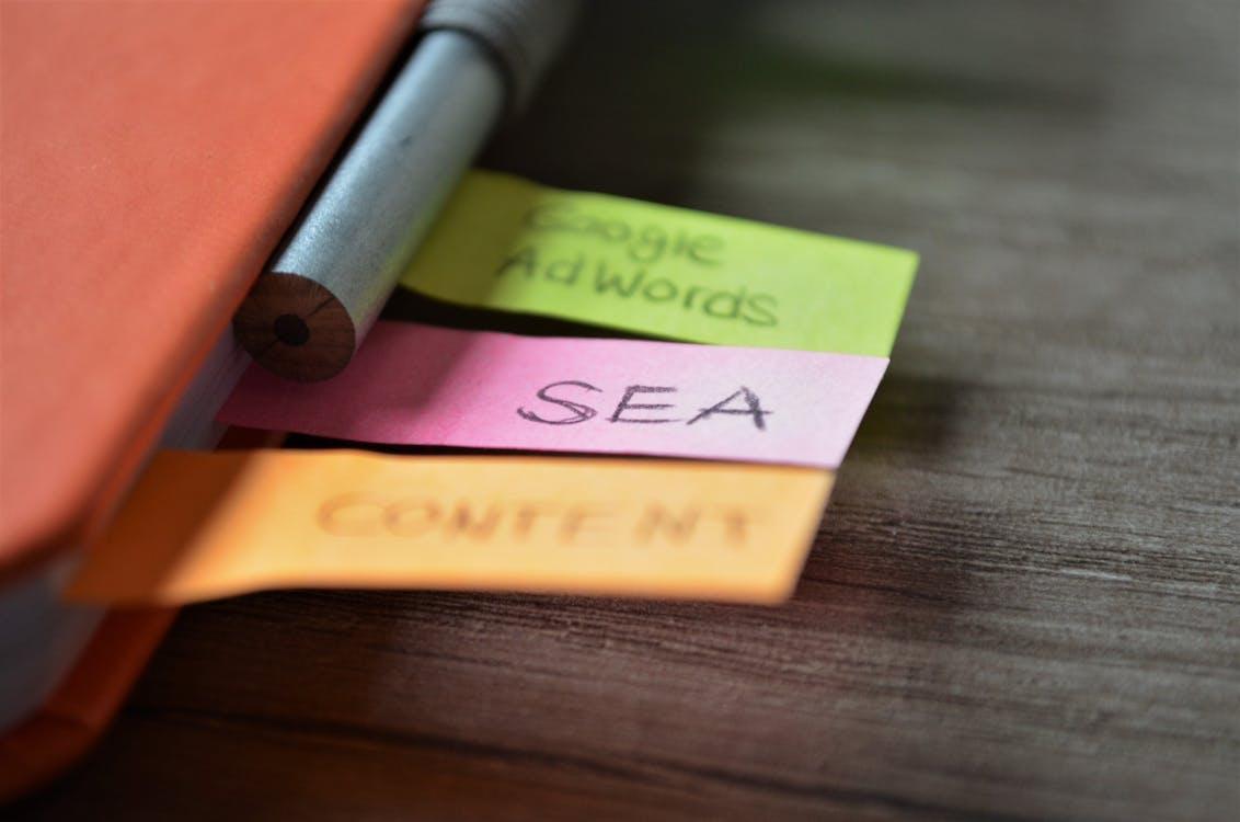 Kostenloses Stock Foto zu adwords, bleistift, digitales marketing