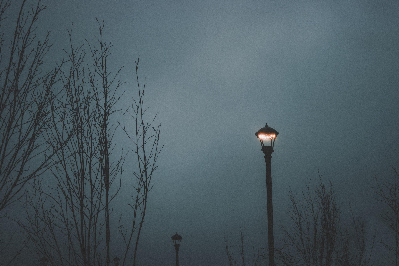 Lit Street Light during Nighttime